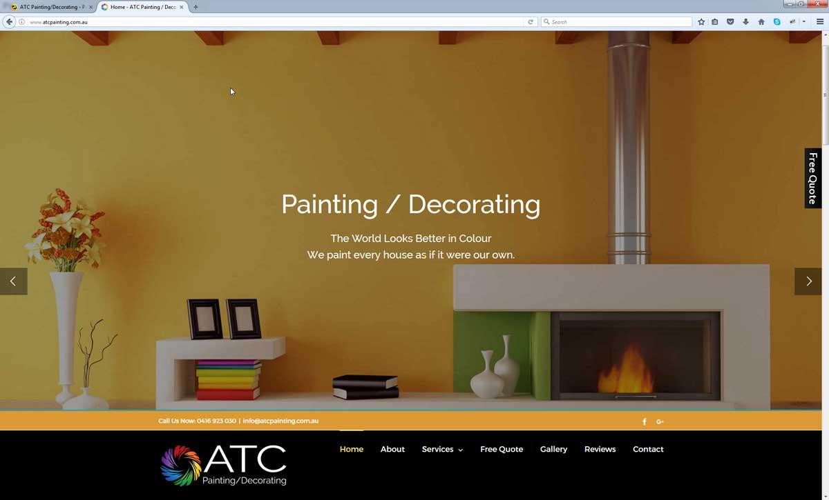 Painting Website Design Perth