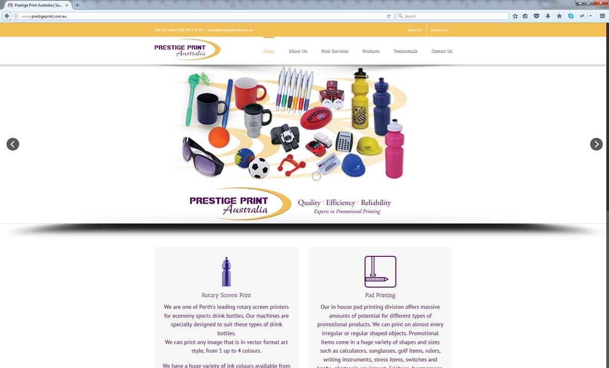 Prestige Print Australia Perth Web Agency
