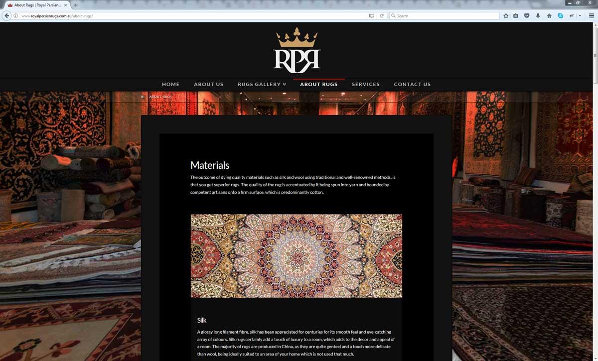Royal Persian Rugs | Perth Web Agency