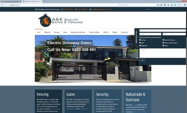 Fencing Website Design Perth