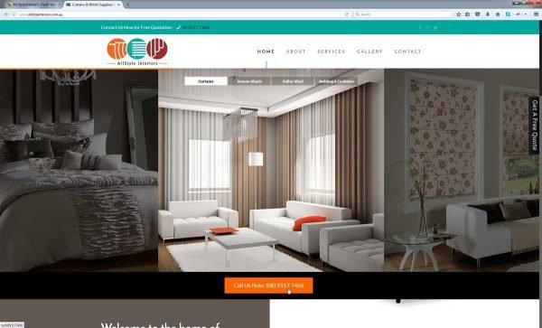 Curtain Website Design Perth