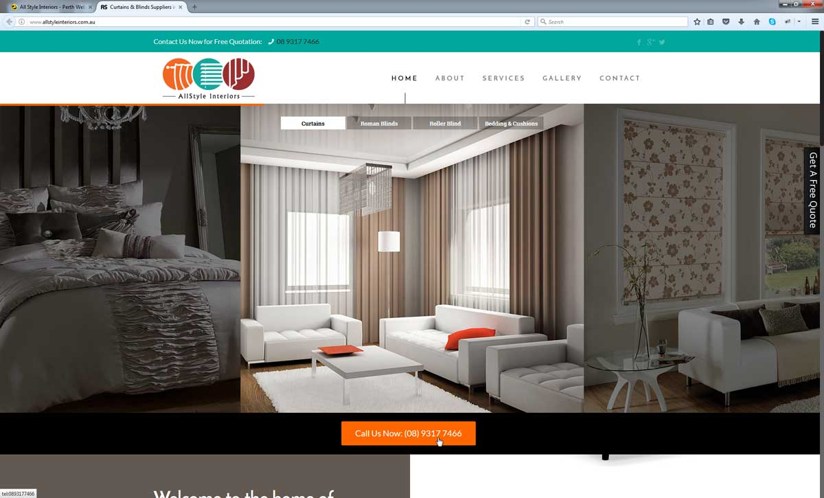 Curtain Website Design Perth