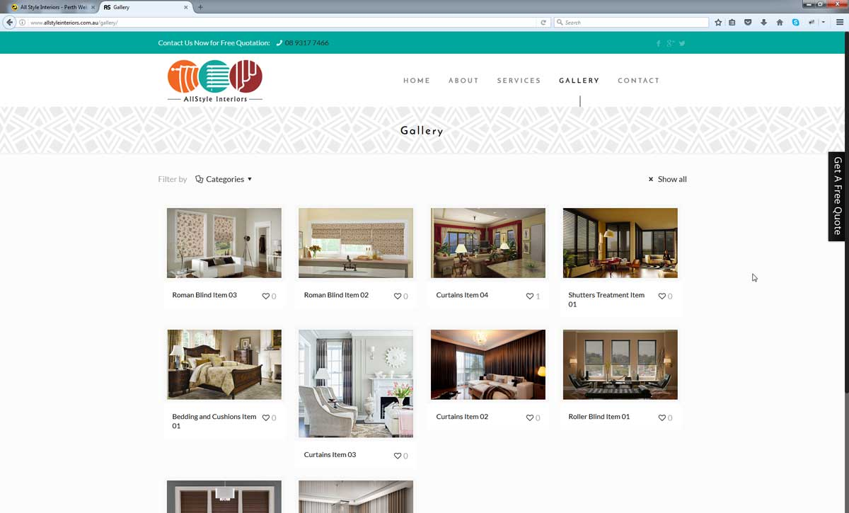 All Style Interiors Perth Web Agency