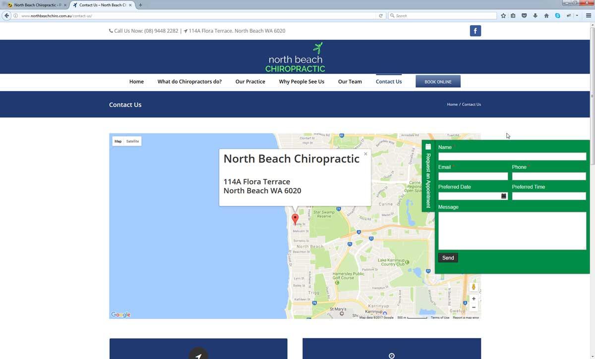 Chiropractic Website Design Perth