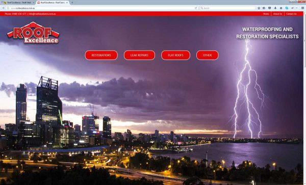 Roofing Website Design Perth
