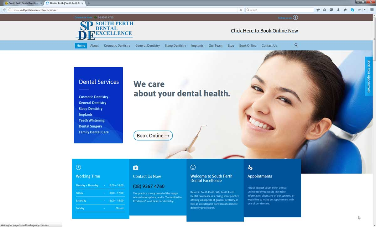 South Perth Dental Excellence Perth Web Agency