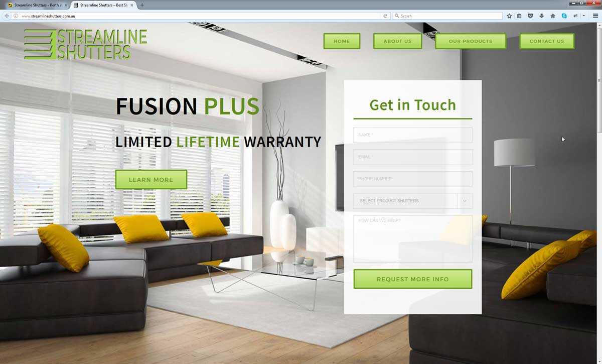 Shutters Website Design Perth