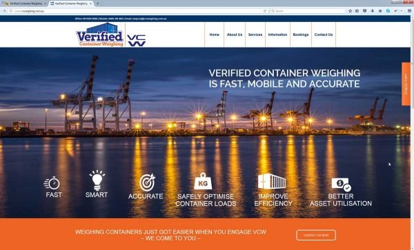 Container Weighing Website Design Perth