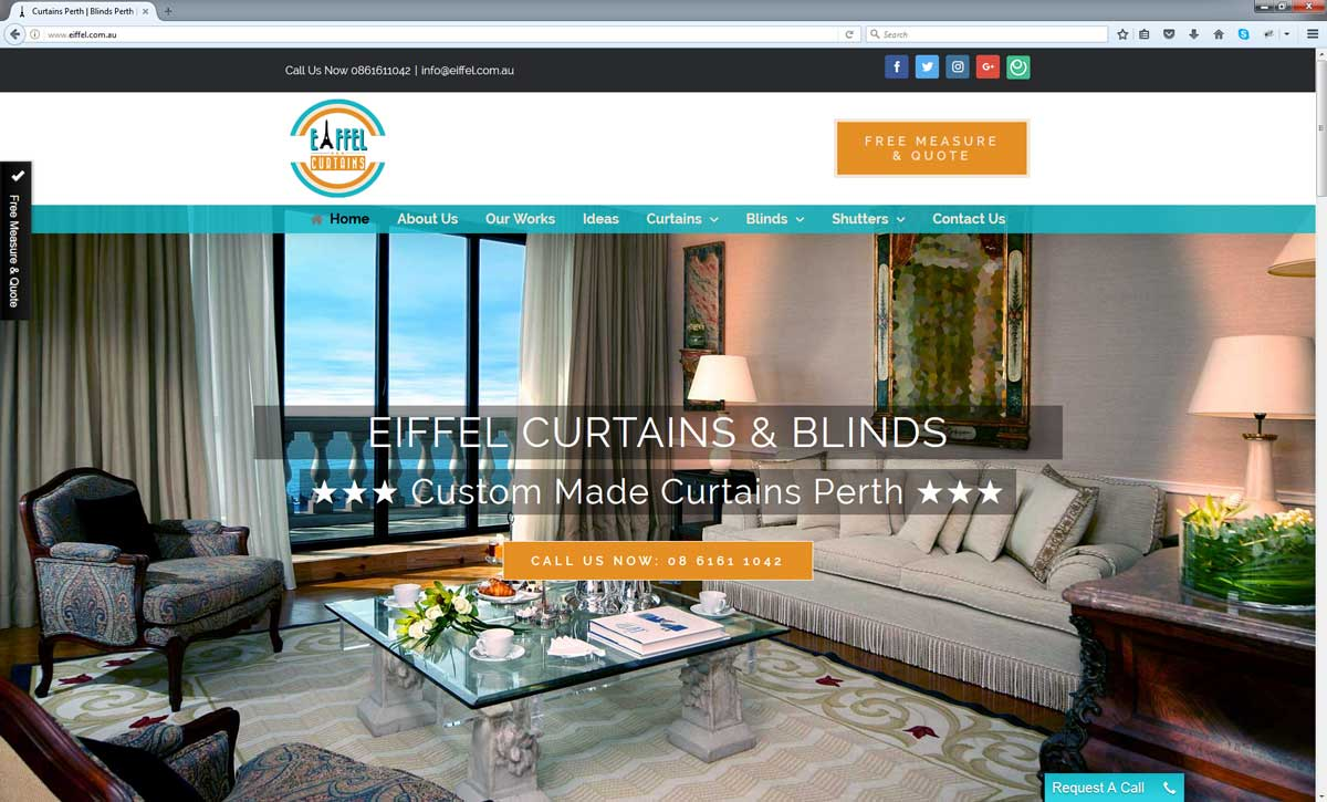 Curtains Website Perth