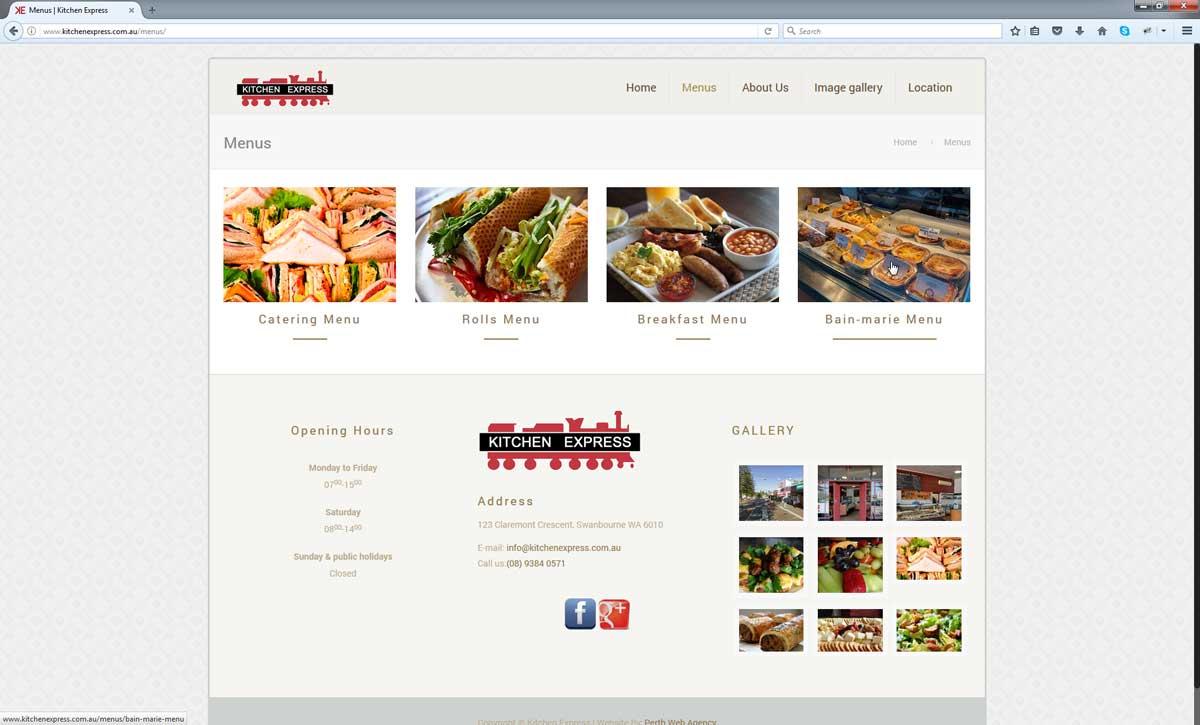 Kitchen Express | Perth Web Agency