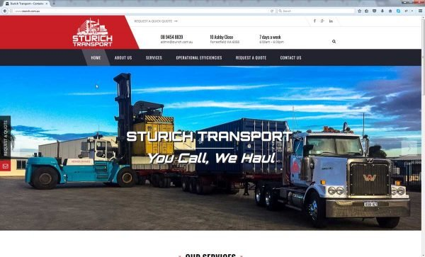 Website Design Perth Transport Company