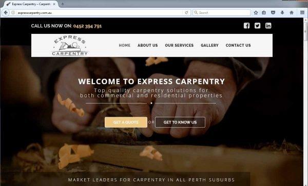 Carpentry Website Design Perth