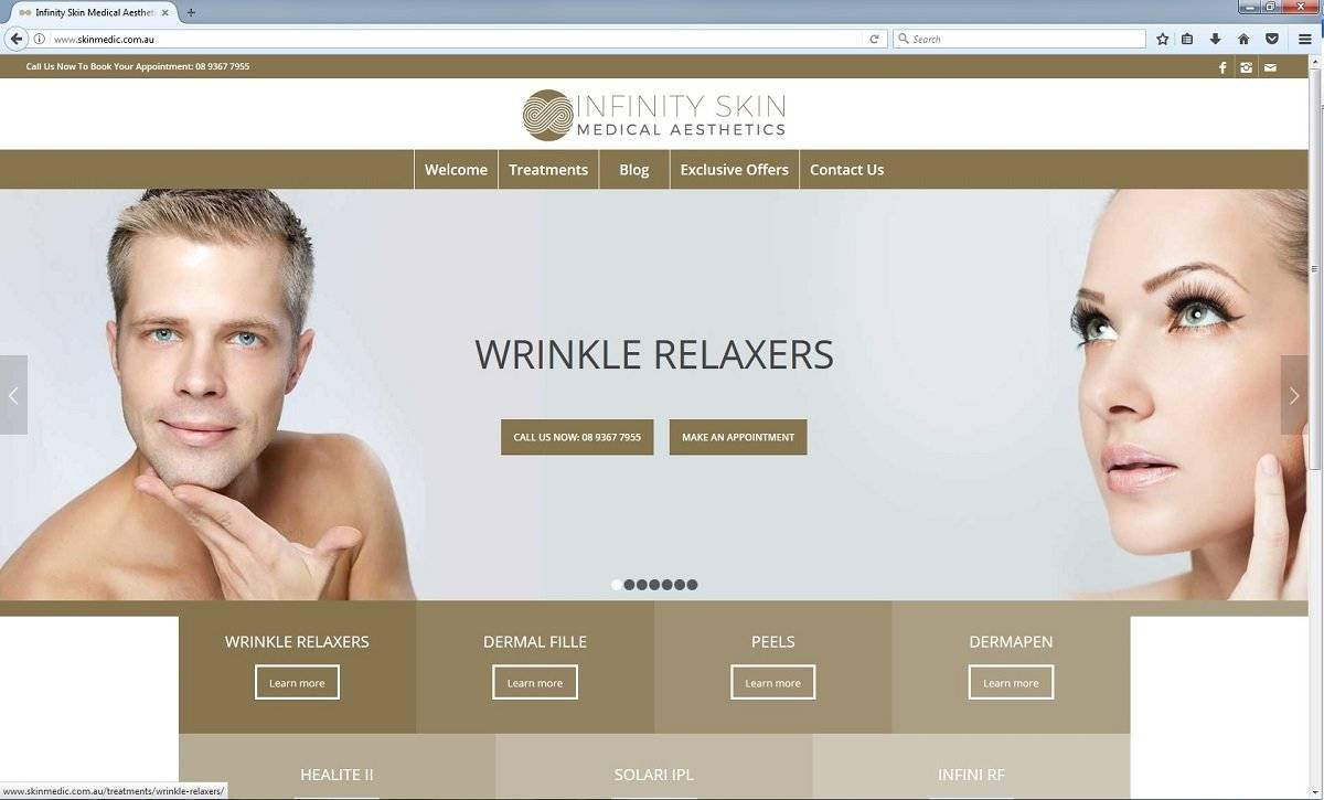 Skin Care Website Design Perth