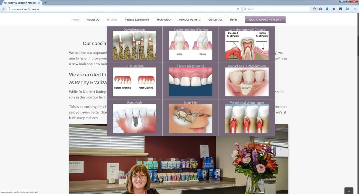Dentist Website Design Perth