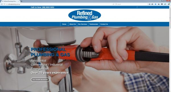 Plumber Website Design Perth