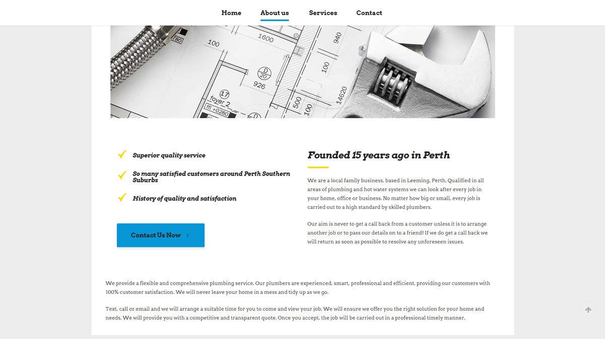 Plumber Website Design Perth