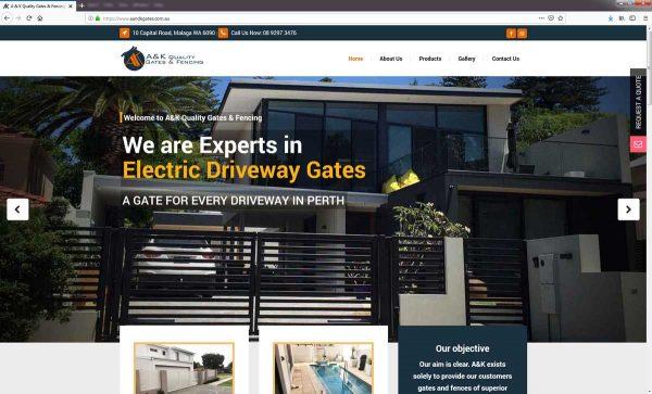 Fencing Company Website Design Perth