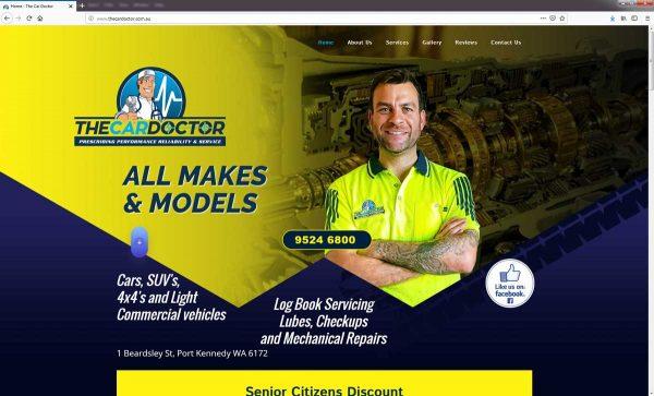 Mechanic Website Design Perth