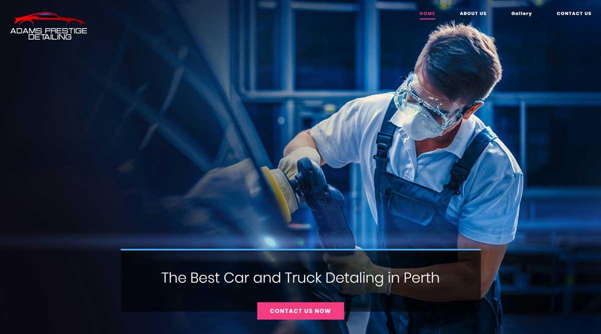 Car Detailing Website Perth