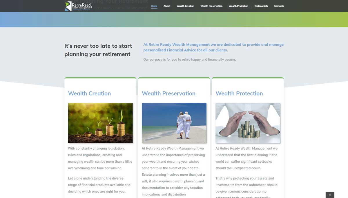 Financial Website Design Perth